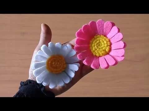 Ide Kreatif Membuat Bunga Daisy Dari Kain Flanel Youtube Bunga