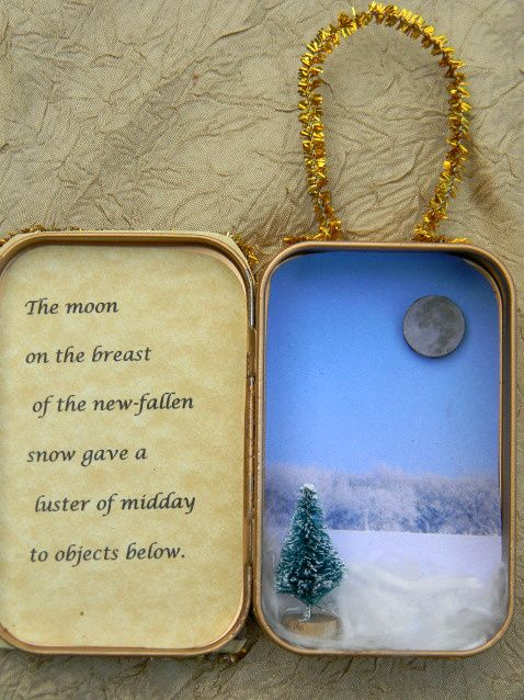 altoid tin Christmas ornament