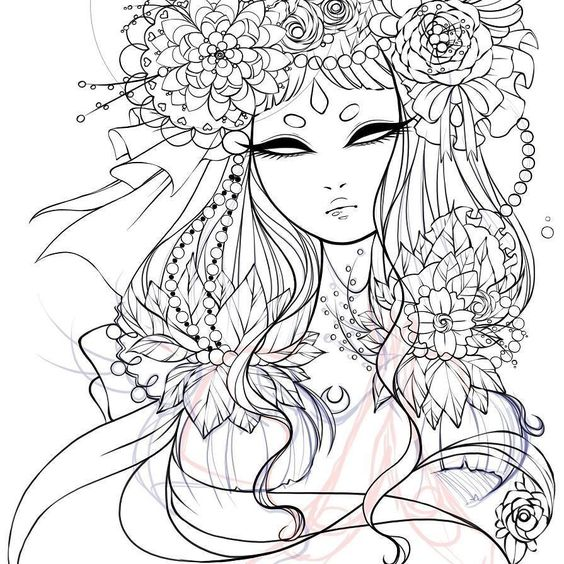 I'm trying to get out of a long art slump so I'm back to working on this illustration and I'm hoping I'll eventually feel inspired again! #art #artistsofinstagram #doodles #sketch #digitalart #flowers #drawing #aluminumbunnyart #lineart