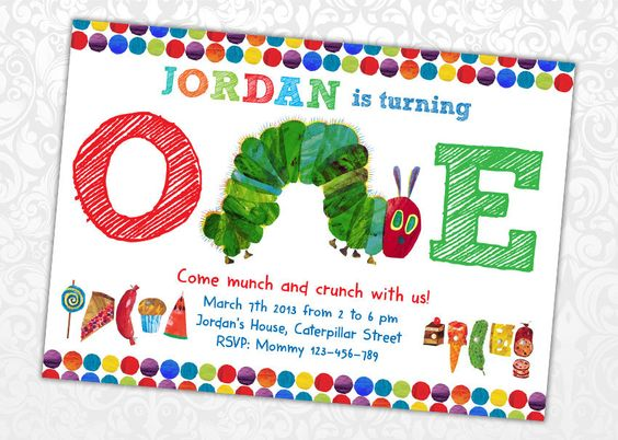 Very Hungry Caterpillar Invitation. $5.50, via Etsy.