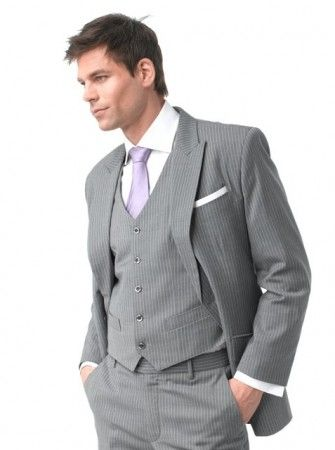 Without jacket, just the vest and pants for brides men? Grey Linen