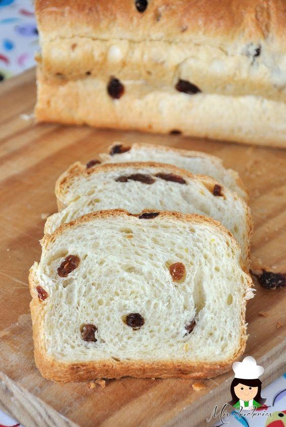 Pan dulce con pasas,Sweet bread with raisins