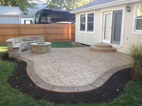 Concrete Patio Ideas Small Backyards : Concrete Patio trend Kansas City Traditional Patio Remodeling ideas