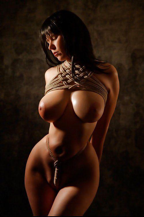 Sexy breast bondage