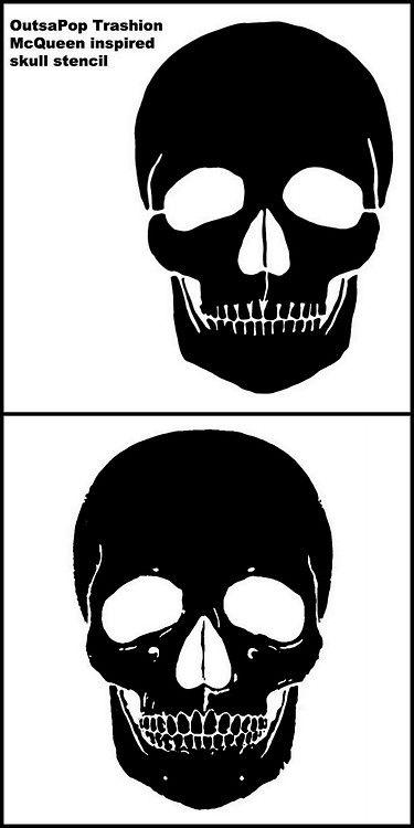 Two Alexander McQueen Skull Templates.For more of skull...
