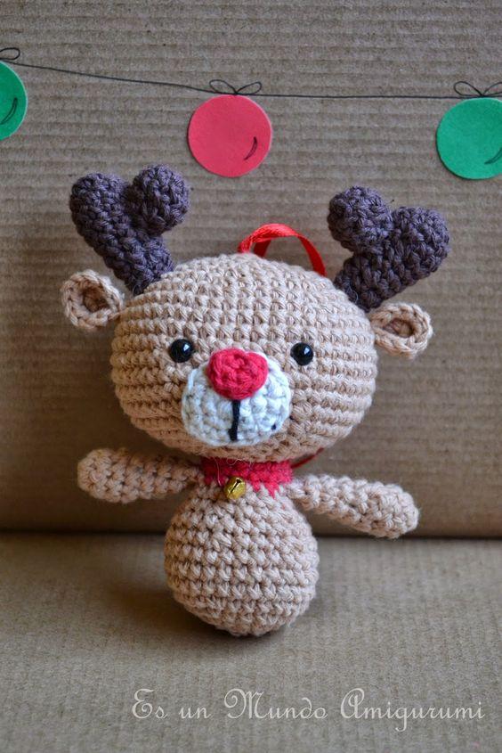 Amigurumis Navidad Crochet : Patrones amigurumi navidad and reno on pinterest