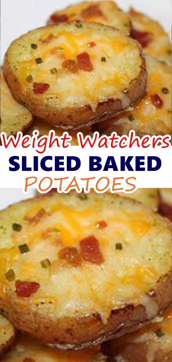 Sliced Baked Potatoes These Baked Potatoes Topped With Bacon Melted Cheese Green Onions And Sour Preheat Oven To 400 F Baked Potato Slices Food Food Recipes