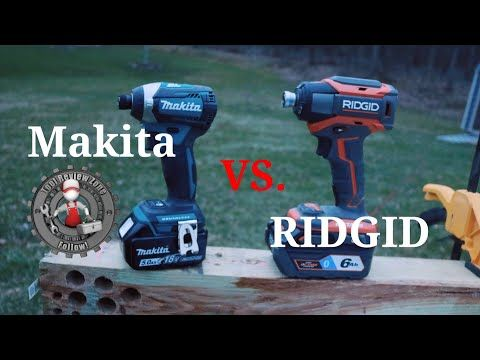 All New Ridgid Octane Impact Vs Makita Lxt Impact Tool Duel Xdt12z R86039b Youtube Makita Tools Dewalt Impact Driver