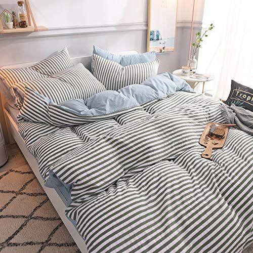 Whichumbrella 3 4 Piece Bedding Bed Set Queen Striped Duvet Cover