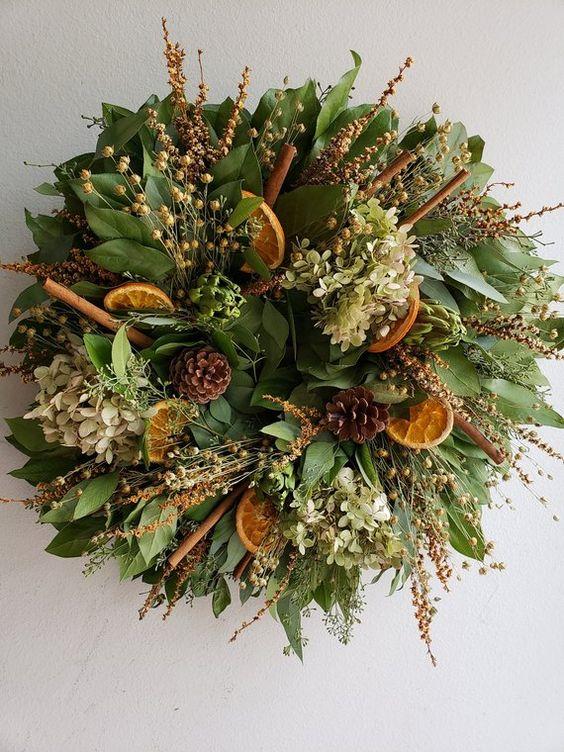 "20"" Fall Artichoke & Citrus Wreath"