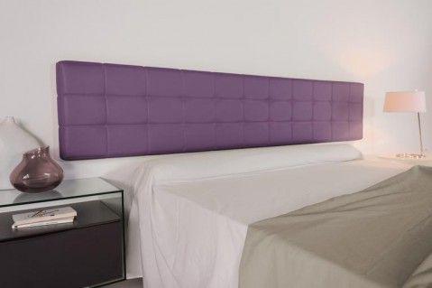 Cabecero tapizado colgado a pared modelo Chocolat. Es un cabecero ideal para dormitorios modernos.