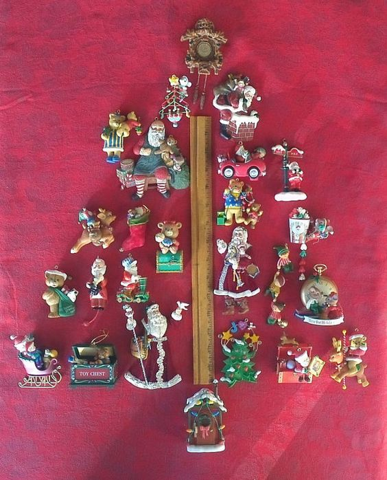 These 25 Vintage Resin and Plastic Christmas Tree Ornaments may have worn spots or missing hangers and/or missing pieces or chips. But hey, thats