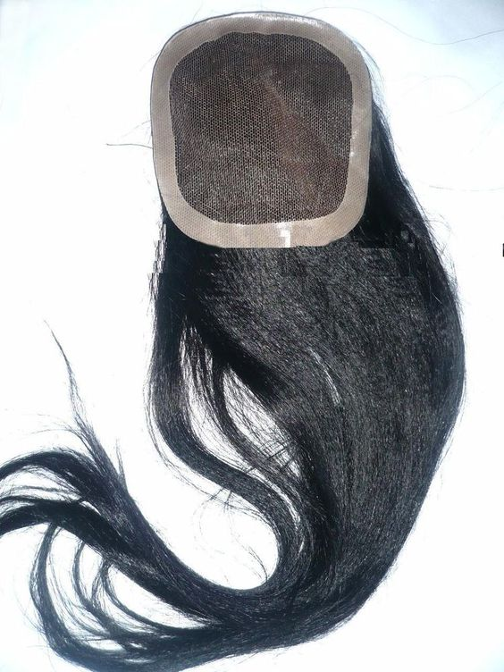 FULL Lace CLOSURE Silky Yaki Textured 100% Human Indian REMY HAIR Partial WIG  #Unbranded #LACECLOSURE