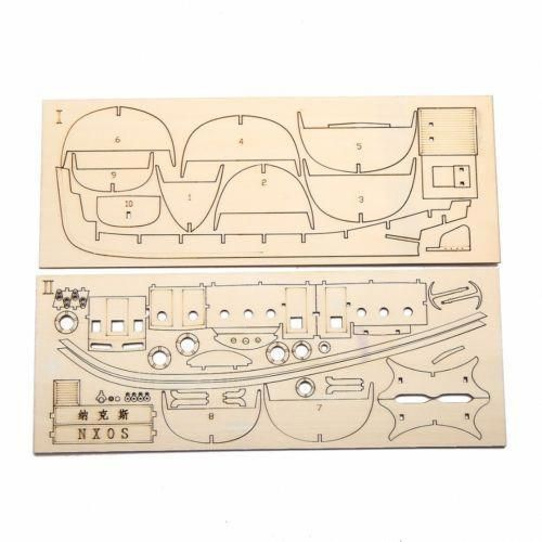 Wooden Sailing Boat Model DIY Kits Ship Assembly 1:50 Scale