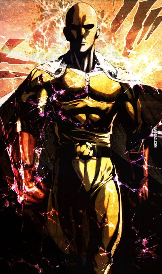 Saitama(One Punch Man) 9GAG Action/poses Pinterest