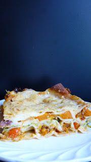 Kürbislasagne mit getrockneten Tomaten und Zucchini