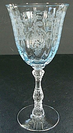 Fostoria | Fostoria Navarre Claret Wine Glass - Blue (Fostoria - Fairfax and ...