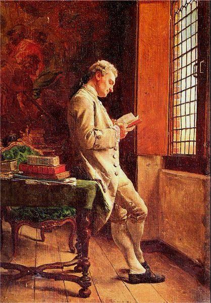 Ernest Meissonier [ le liseur blanc ] 1857