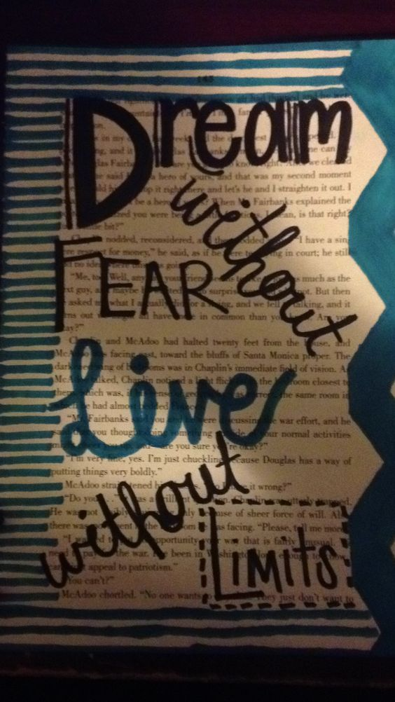 Dream without fear, live without limits<3