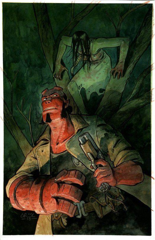 Hellboy Harrow County Mashup Tyler Cook Horror Comics Comics Art