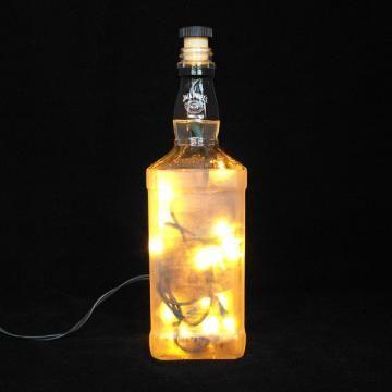 Etched Jack Daniel's No. 7 Bottle