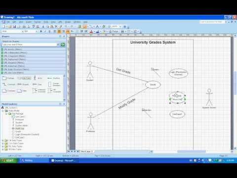 Use Case Uml Diagrams Example Understanding Creating Them Using Microsoft Visio Youtube Microsoft Visio Use Case Excel Shortcuts