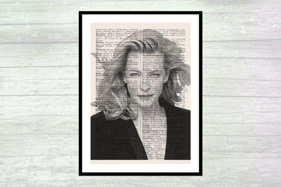 Cate Blanchett  Poster  Wanddekor  Kunstdruck  von FineArtHunter
