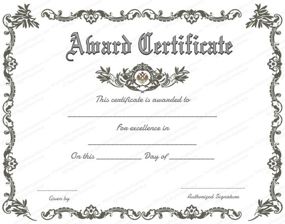 Free printable certificate of recognition google search for Google docs award certificate template