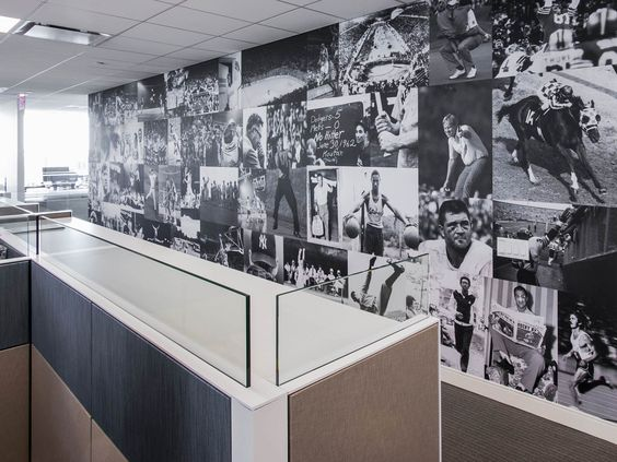Office space design photo mural and office spaces on for Well designed office spaces