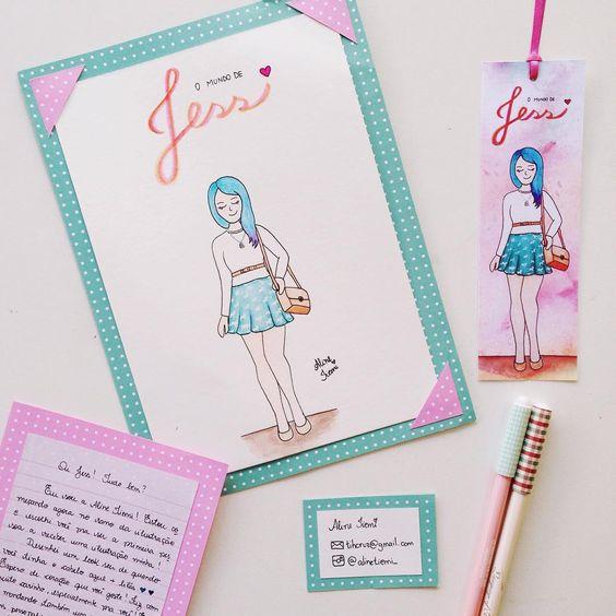 Surpresa fofa que estava na minha Caixa Postal ❤️✨ Amei o presente @alinetiemi_ ! A ilustração ficou a coisa mais fofa do mundo, obrigada pelo carinho ✨