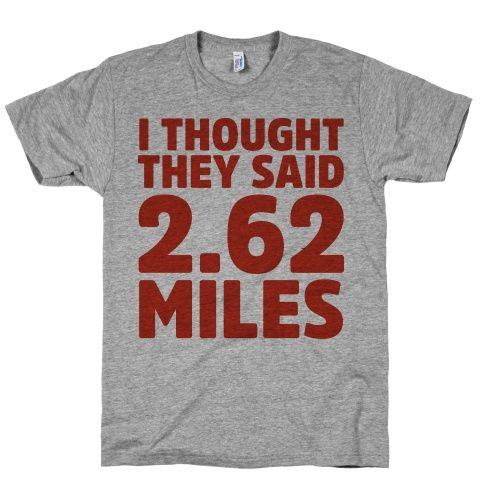 If I ever run a marathon or half this would be fun to wear