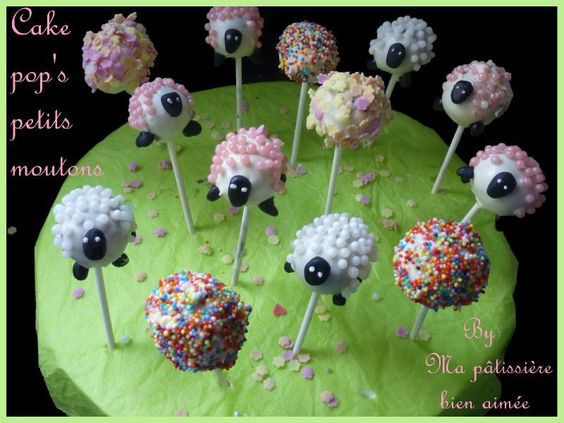cakepop moutons