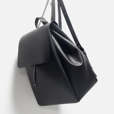 Image result for zara black backpack
