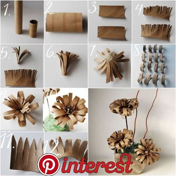 Diy Toilet Paper Roll Flowers This Toilet Paper Roll Flowers in the picture below. It's very cute. This project is super easy, super cheap and fast to make.