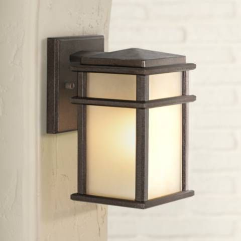 Feiss Mission Lodge Bronze Wall Mount 9 High Lantern 16963 Lamps Plus Outdoor Wall Light Fixtures Wall Lights Lodge Lamps
