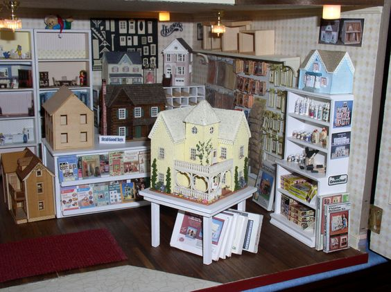 My 144th Dollhouse miniatures in my 1:12 scale Dollhouse Shop. Still a work in progress!!