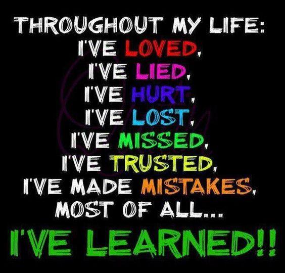 Throughout life.