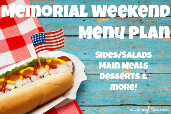 memorial day weekend menu ideas