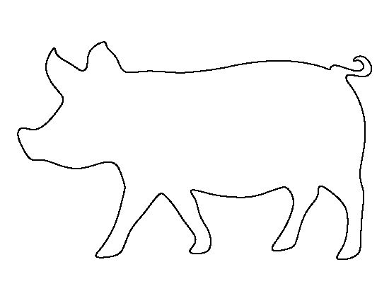 Pig pattern. Use the printable outline for crafts, creating stencils, scrapbooking, and more. Free PDF template to download and print at http://patternuniverse.com/download/pig-pattern/
