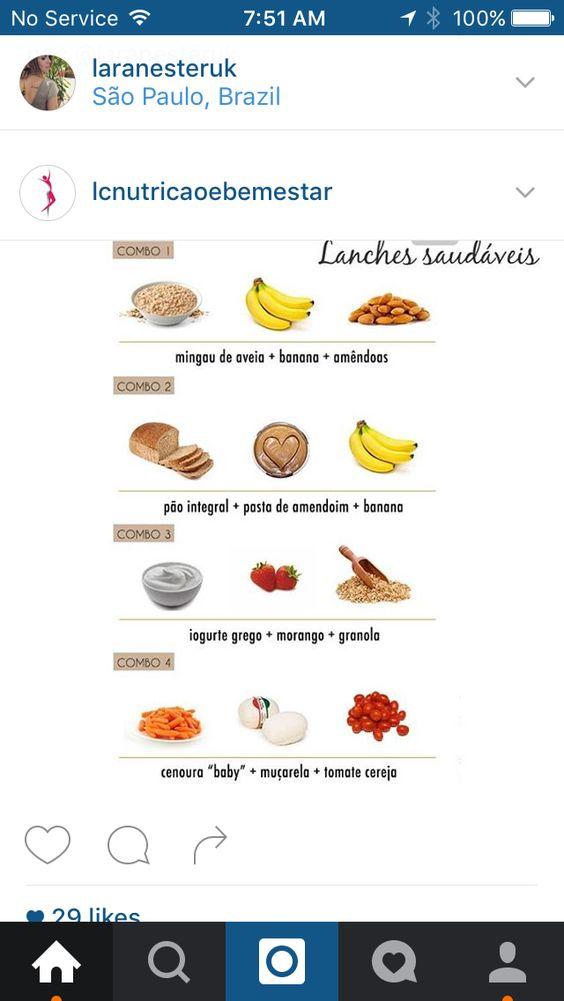 Lanches saudáveis