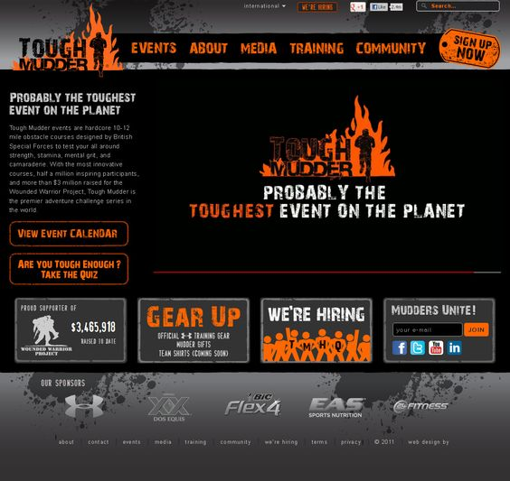Tough Mudder for Wounded Warrior Project, can't wait to do this