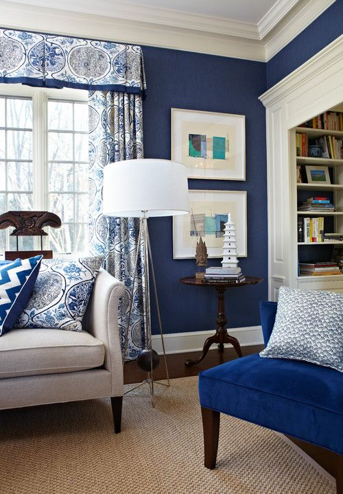 How To Decorate With Pantone Color Of The Year 2020 Classic Blue Blue And White Living Room Blue Living Room Decor Blue Walls Living Room
