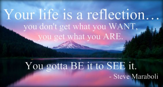 your life is a reflection...