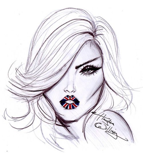 Fashion Drawing - British Lips