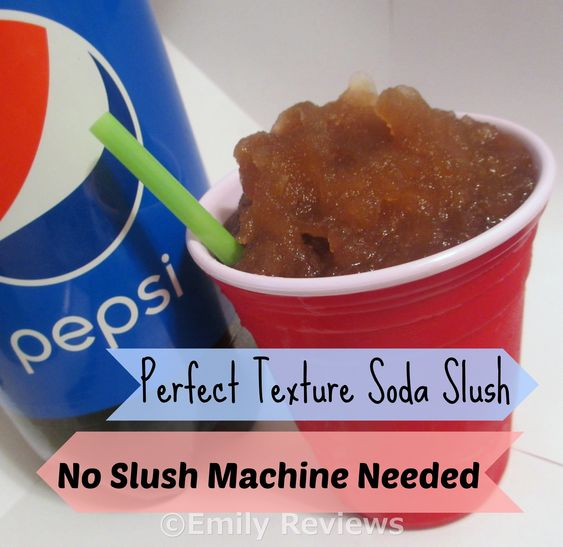 How to make perfect texture slushies from home - same consistency as 7-11 slurpees. Make your own Mountain dew slushy or any other soda flavor!