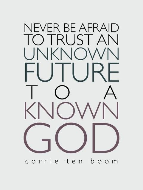 Trust for an unknown future