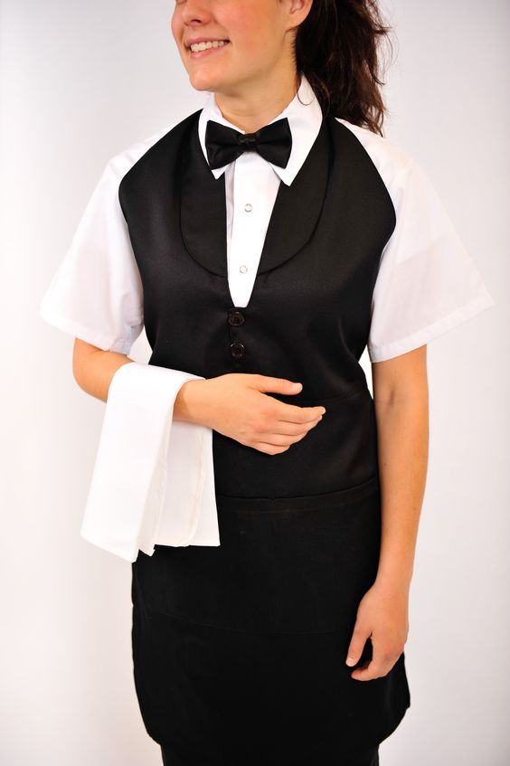 Tuxedo aprons for servers. Available at: http://www.cantexdistribution.com/products/95-Tuxedo-Apron/