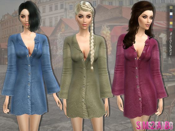 119 Suede coat by sims2fanbg at TSR • Sims 4 Updates