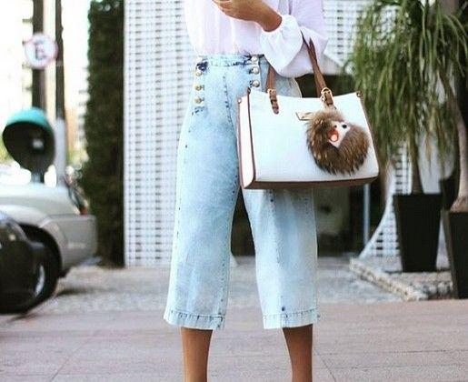 Maxi pantacourt é tendência: confira dicas para usar a calça