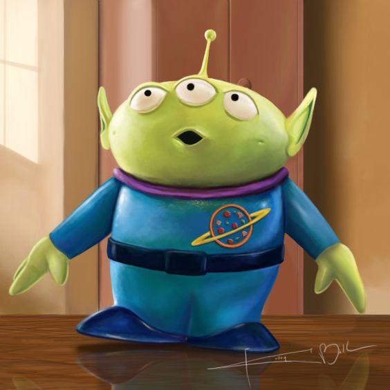 Toy Story's Little Green Alien by Imaginesto.deviantart.com on @deviantART